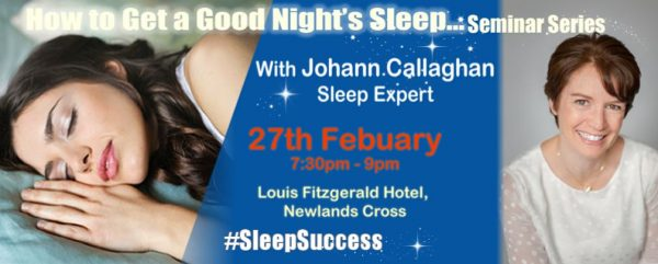 ow to get a good night's sleep seminar series